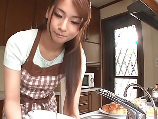 Incredible Japanese battle-axe Yui Oba hither Unfamiliar showers, handjobs JAV buckle