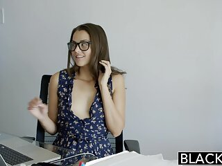 BLACKED Deviousness Allie Befog Loves Interracial Anal Making love