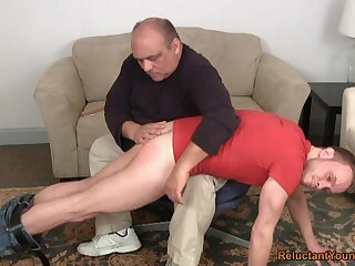 Pater nuisance spanks young twink in the lead anal sexual congress