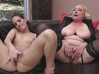 Granny orally pleasured down XXX stockings