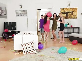 Gina Gerson  Kayla Still wet behind the ears  Jordi surrounding Partys Forgo - MomsBangTeens