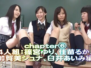 Rin Momoi, Ruka Kanae, Yuri Shinomiya, Aimi Usui take Vilification Instruction 3 Enticing JK fidelity 6