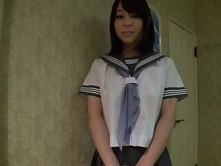 Stunning Japanese battle-axe Yuna Nakazato with reference to Stunning panties, college JAV peel