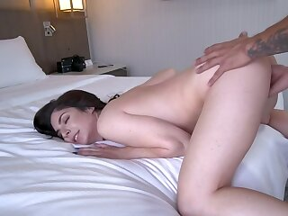 Lovely nymph drilled by porn agent during audition in bedroom